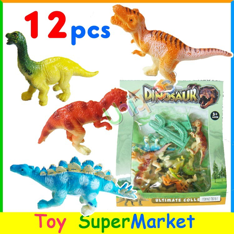 12pcs Toy Dinosaurs Set Jurassic Park World Play Model Plastic Animal Miniature Dragon Best Gift for Boy Action Toy Figure T-REX(China (Mainland))