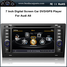 7″Car DVD Audio Video Player For Audi A8 S8 1994-2003 With GPS Radio Bluetooth TV (option)  Ipod
