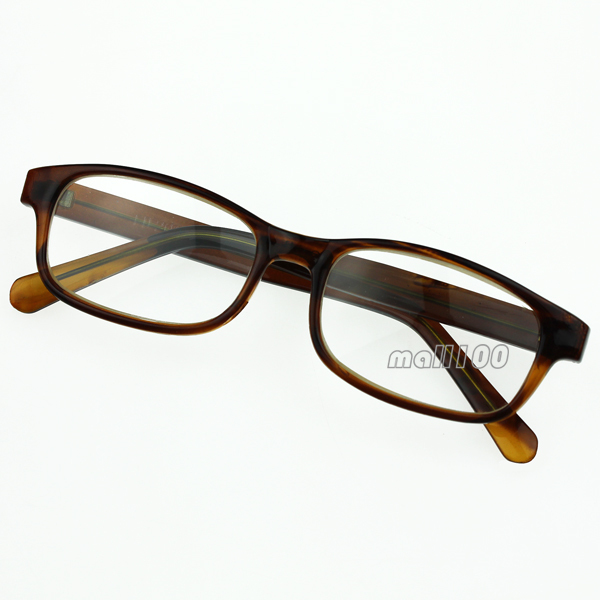 Plastic Glasses Frame Polish : Brown Plastic Frame Reading Glasses Full Rim Glass optical ...