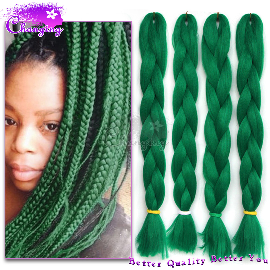 Crochet Xpression : ! Green Braiding Hair Extensions Xpression Jumbo Braid Hair Crochet ...