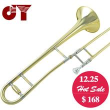 Professional JINYIN JYTB-E100 Alto trombone B Flat Gold lacquer brass trombone Wind instrument with trombone mouthpiece and case(China (Mainland))