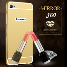 Buy Lenovo S60 Case Mirror Plating Aluminum Metal Bumper Acrylic Back Cover Lenovo S60 S 60 Phone Cases for $2.98 in AliExpress store