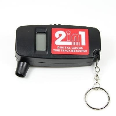 free shipping!!new 2-in-1 Bar PSI Digital LCD Car Wheel Tire Air Pressure Gauge with Tread Depth Gauge  5pcs/lot  901745-KPT-12