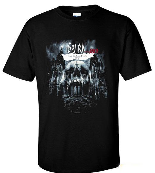 Cool T Shirt Fundraiser Factory GOJIRA Progressive Metal Band Toxix Garbage Seattle T-shirt S-4XL Ruffle Tshirt Steampunk Tee(China (Mainland))