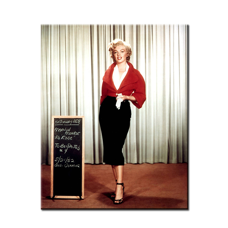 Marilyn Monroe White And Black Art Wall Painting Print On