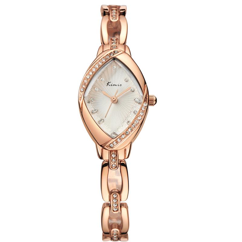 KIMIO 2015 New Women's Watch Fashion Luxury Diamond Gold Bracelet Watch Women Wristwatch Analog Display Quartz Watch(China (Mainland))