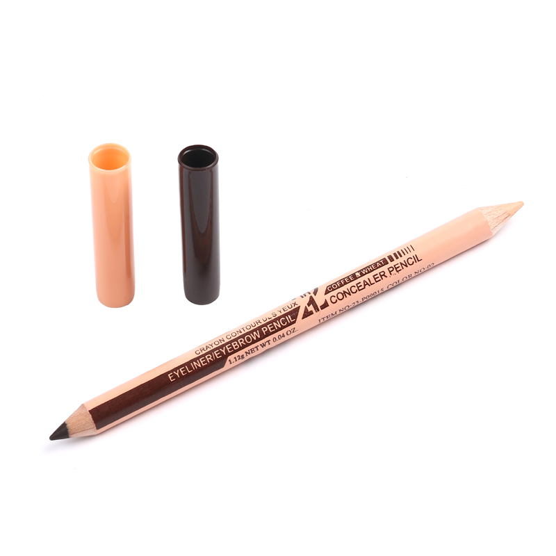 m n menow brand concealer eyebrow pencil 2 in 1 makeup two head