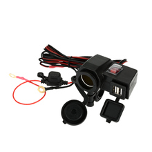 WUPP 12V Car Motorcycle Cigarette Lighter Socket Dual USB Port Charger for iPhone6 6S iPad iPod GPS(China (Mainland))
