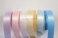 Ten rolls  Free shipping wholesale 4/8″ width colors mixed satin ribbon for packing and bow