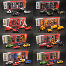 1:64 Alloy Police/Military vehicle/Fire engine model simulation bus toy set 2016 kids Toys Birthday gifts(China (Mainland))