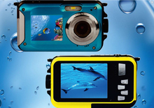 Dual Screen W8D Waterproof Camera 10M 16XZoom Underwater Shockproof Digital Camera 2.7inch LCD DisplayCameras