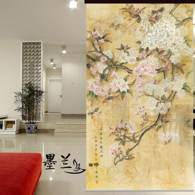Cherry Room Dividers Wood Room Dividers Partitions Remarkable - Cherry blossom room divider screen