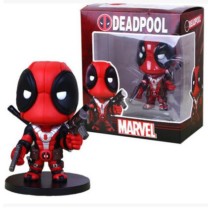Anime new hot whosale 13cm cute X-men Blocks Deadpool Q Version PVC Action Figure Collectible Toy Doll(China (Mainland))