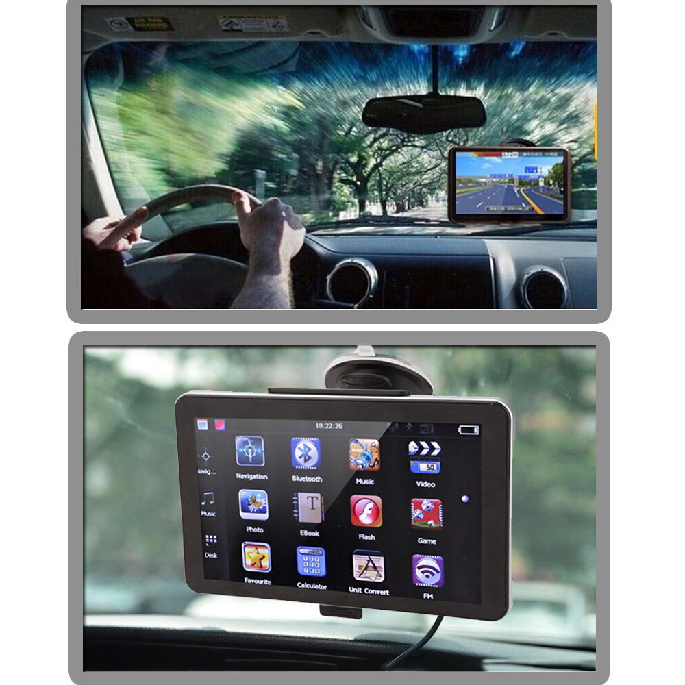"7"" HD Touch Screen Automotivo Car GPS Navigation Monitor RAM 4GB FM Video Player Navigator +Bluetooth Map(China (Mainland))"