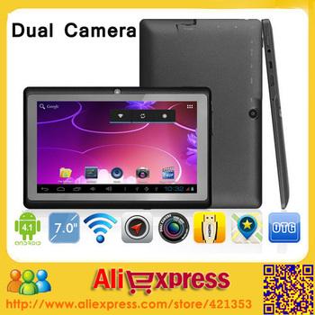 DHL Free Shipping 7 inch Tablet PC Allwinnwer A13 Dual Camera 512MB/8GB Q88 Tablet PC [NO.1]