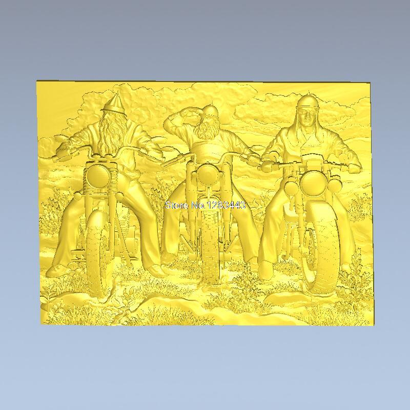 High quality 3d model relief for cnc or 3D printers in STL file format bikers unframed(China (Mainland))