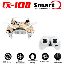 F17746/7 Cheerson CX10D CX 10D CX-10D 2.4GHz 4CH 6 Axle Gyro High hold Mode RC Helicopter Quadcopter Micro Mini Drone RTF