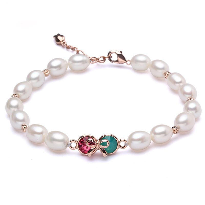 Nature Freshwater Cultured Pearl Bracelet Newest Design Freshwater Pearl with brass copper bronze with 5cm extender chain Potato(China (Mainland))