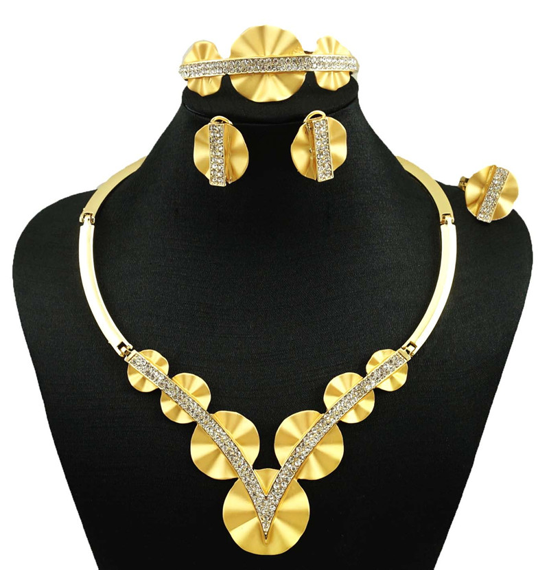 NEW arrive 18k real gold plated jewelry sets women fashion jewery sets fine jewelry sets women big necklace(China (Mainland))