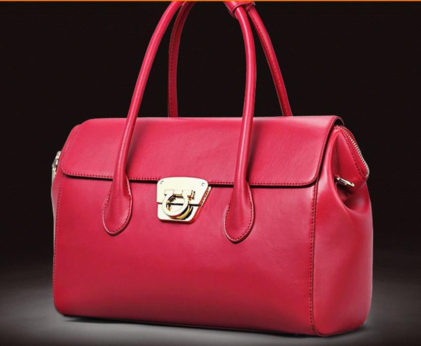 2015 women's handbag fashion first layer of cowhide handbag for women classic han db ags(China (Mainland))