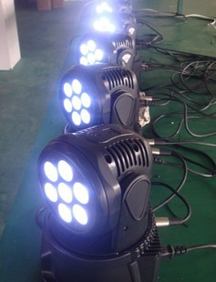 Free Shipping 7x 10w RGBW 4IN 1 sharpie moving lights stage disco led moving head dj equipment(China (Mainland))