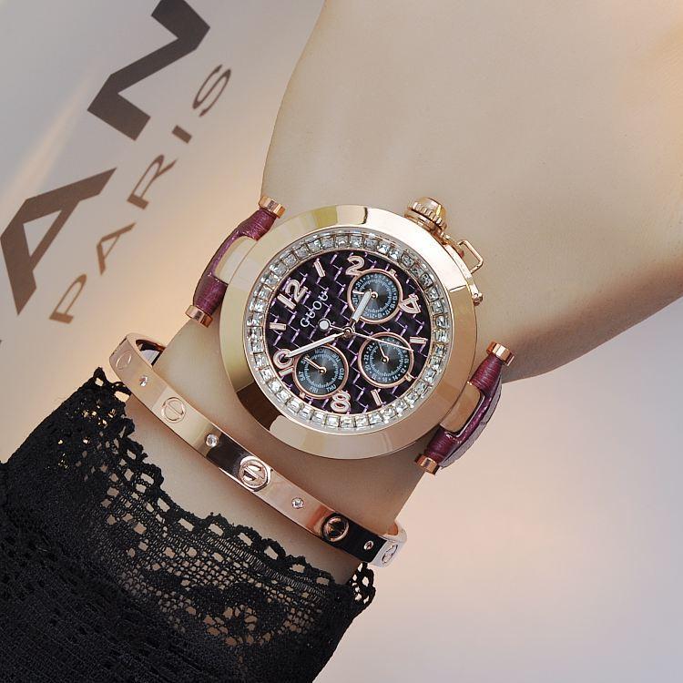 GUOU Brand watches ladies fashion luxury Leather Watchband diamond market trend student fashion watch