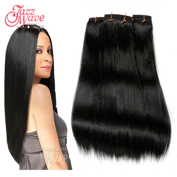 """Premium Now Hair New Yaki Platium 8""""-22"""" Color1,1B,2,4,613 Yaki Straight 3pc/Lot Blonde Real Hair Mix Synthetic Hair Extension"""