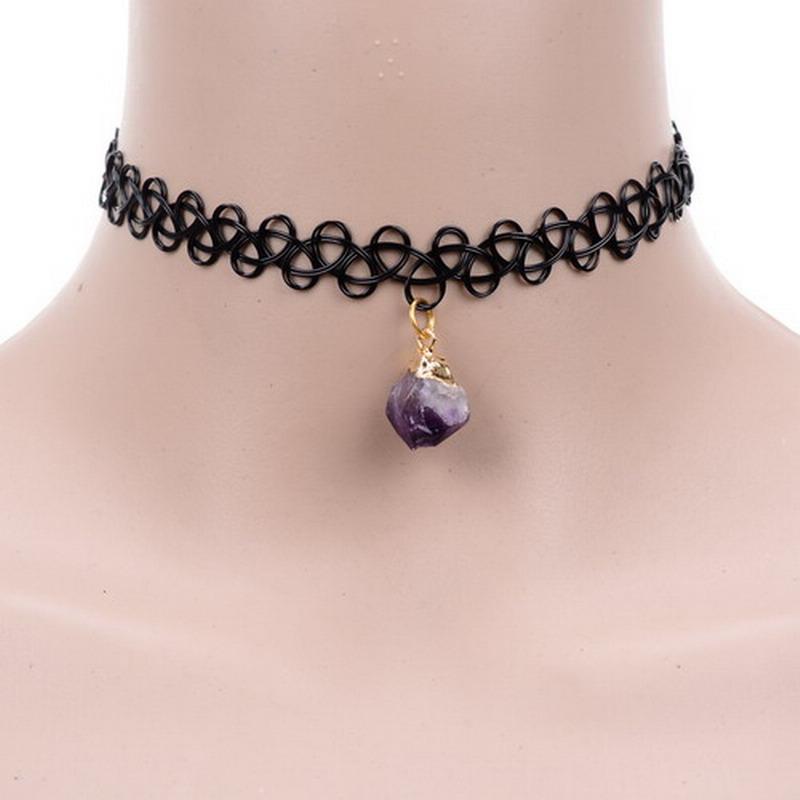 Gothic Jewelry Vintage Lace Necklaces & Black Lace Bullet Accessories Crochet Drop Vintage Necklace False Collar For women(China (Mainland))