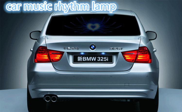 90*25 Lotus LED Sheet Lamp Sound Music Activated Equalizer car Stickers Flash car Sticker Music RhythmFree shipping(China (Mainland))
