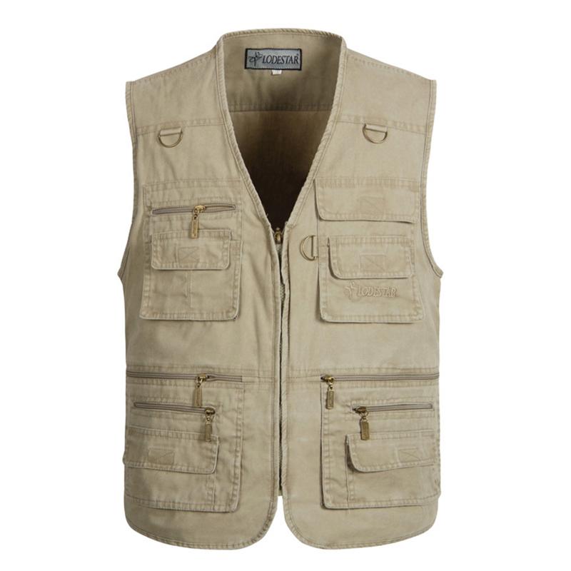 [MASCUBE]Size XL-7XL Men's Jacket Denim Vest Sleeveless And Outdoor Casual Multi-Pocket Waistcoat Men Equipments(China (Mainland))