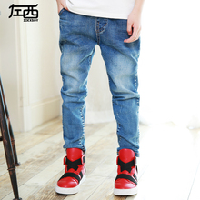 Children's clothing male child spring jeans 2016 child spring and autumn trousers child boy trousers(China (Mainland))