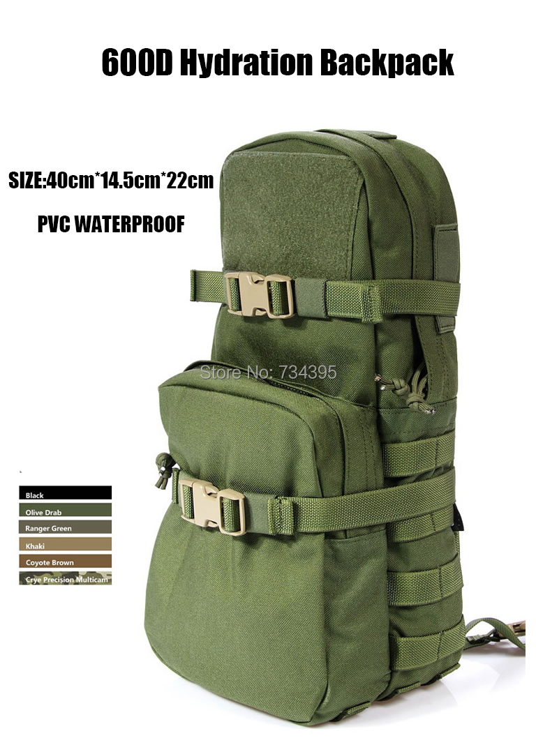 Camo combat Molle Tactical Hydration Packs Water bag Bladder Pouch Attack backpack Travel hiking Cycling Running Fishing - Hongchang Wang's store