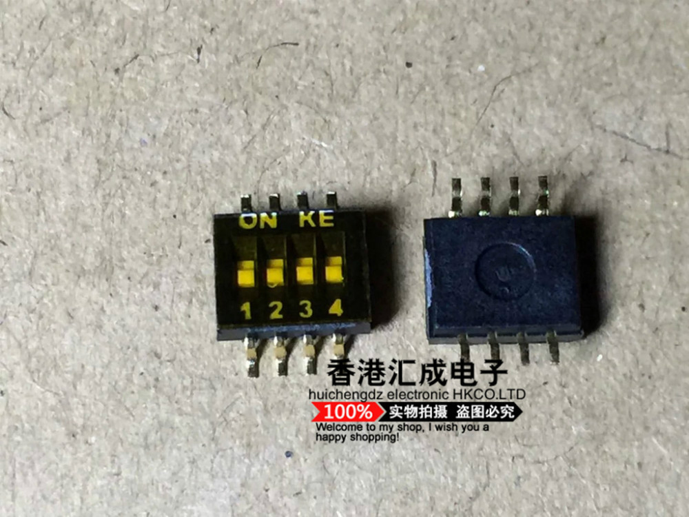 DSHP04TSGER  KE patch dial the code switch 4 feet away from 1.27mm Toggle switch SMD new original <br><br>Aliexpress