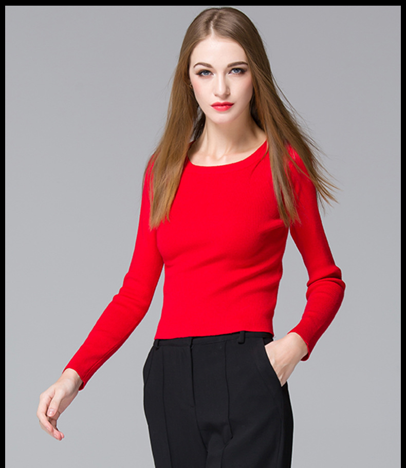 2015 Winter Sweater cotton pullovers O-neck vest soft womens's blouse - Tara's Shop store