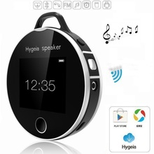 Portable Wireless Touch LCD Hygeia Speaker Bluetooth Health Partners Smart Heart Rate Test Suppor SD FM MP3 Clock Calendar