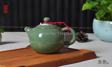 Ge Kiln Longquan Celadon Ware Xishi Teapot 2 Fish Cup Kungfu Tea Set 260ml