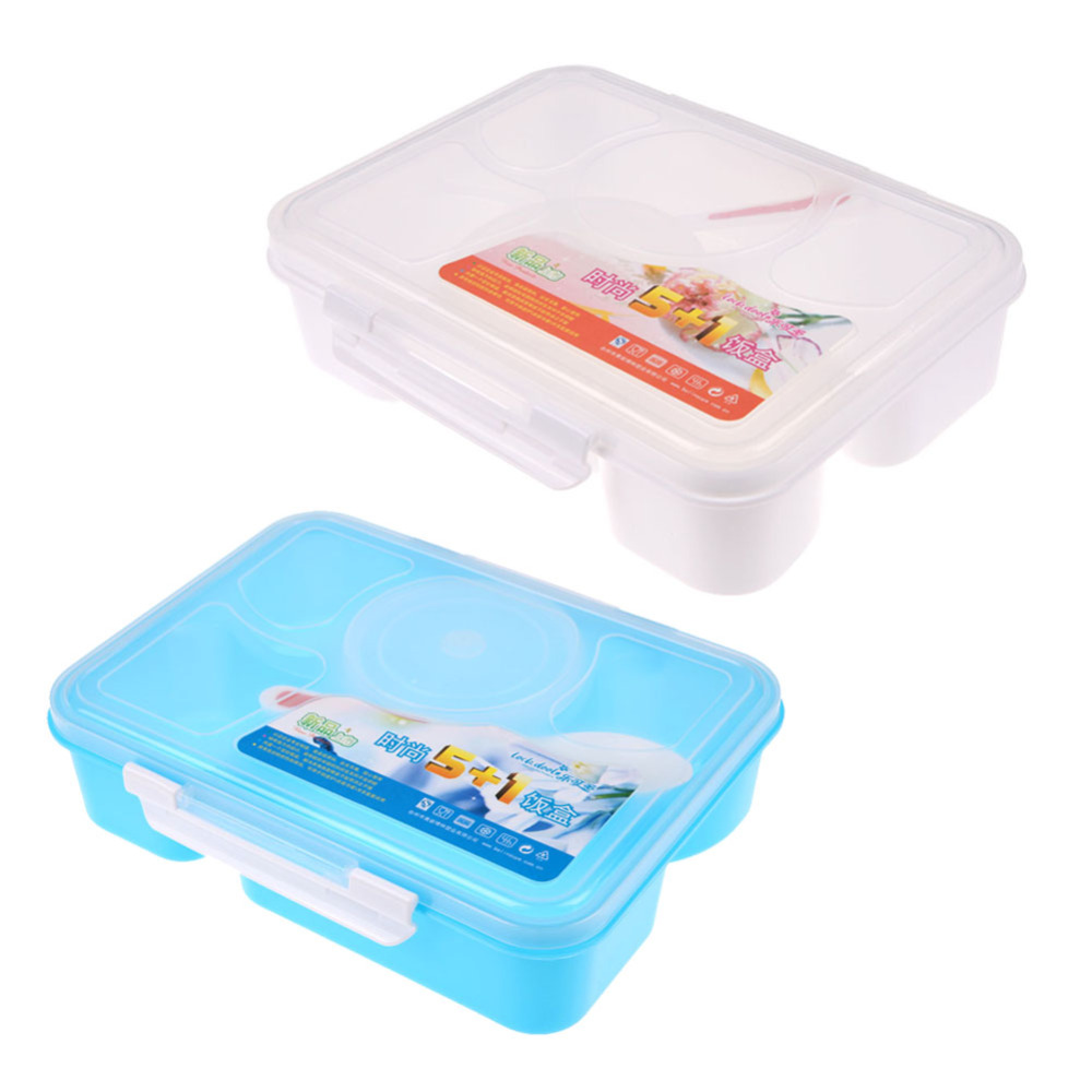 Child lunch box 5 1 food container storage box portable for Case container 974