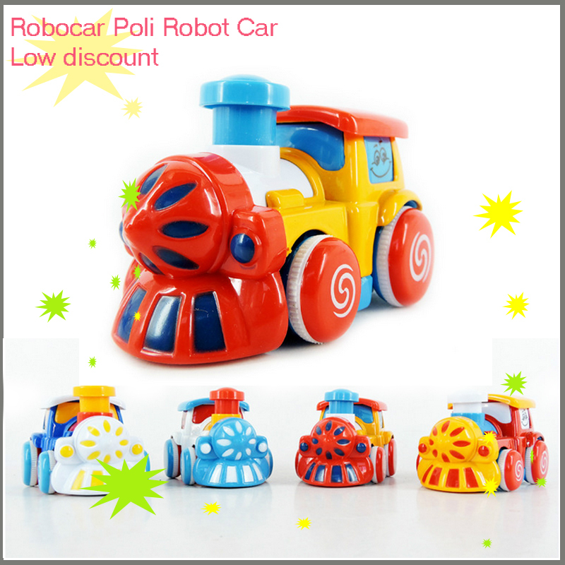 New Train toy Inertial alloy train toys Plastic, alloy The train toy 4pc baby learning & education classic toys for children30(China (Mainland))