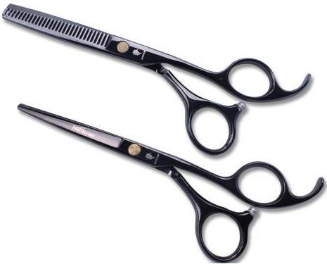 Black Hair scissors 5.5 INCH Hair shear SMITH CHU HM86 Simple packaging good quality 1PAIR/LOT NEW(China (Mainland))