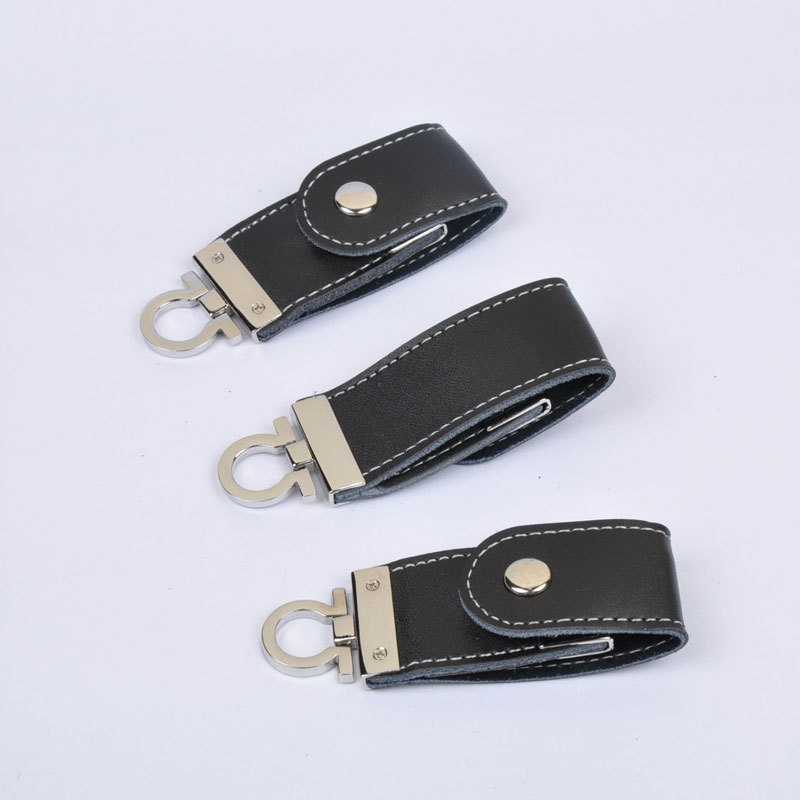 High Speed Leather Key Chain USB 2 0 Flash Drive 16GB Memory Stick Thumb Disk Car