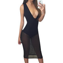 Buy New Arrival Sexy Black Jumpsuit Deep V Neck Casual Romper Women Clothing Bodysuit Feminino Costume L3 for $8.56 in AliExpress store