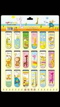 Free shipping cute stationery cartoon magnetic bookmark clip 18 Bookmarks magnetic cartoon book mark(China (Mainland))