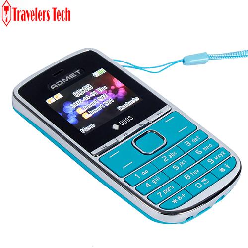 Original ADMET V100 Low Price China Mobile Phone Dual SIM Card FM Radio Lanyard Loudspeaker 5 Colors feature phone(China (Mainland))