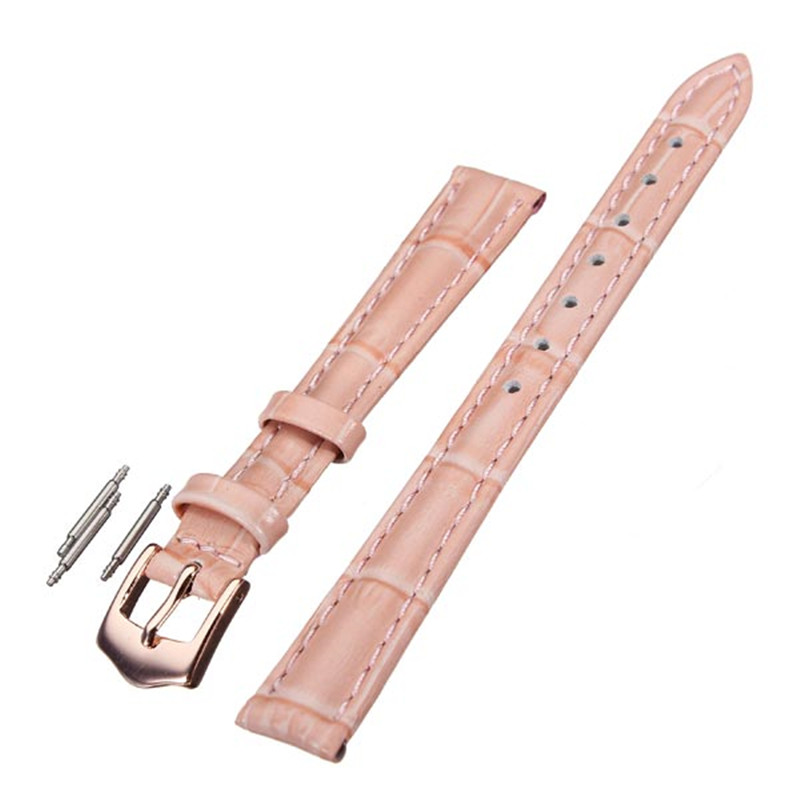 Excellent Quality 12mm 14mm 16mm 18mm 20mm PU Leather Pink Wrist WatchBand Watch Strap For Watch<br><br>Aliexpress