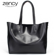 Zency Fashion Women Real Genuine Leather Causual Women Handbag Large Shoulder Bags Elegant Ladies Tote Sacthel Purse Bolsa 2016(China (Mainland))