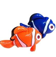 Надувные рыба-клоун игрушки Декоративные надувные Морских животных игрушки воды для Купания игрушки детский сад игрушки