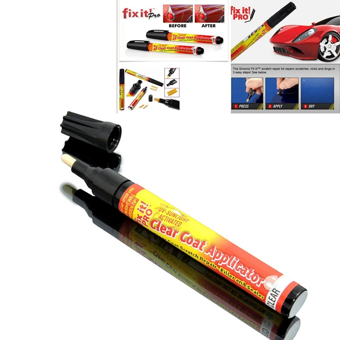 New Fix It Pro Mending Car Scratch Repair Remover Paint Pen Simoniz Clear Coat Applicator For Hyundai VW Mazda Toyota(China (Mainland))