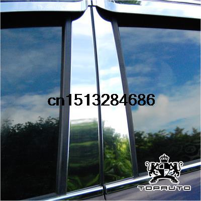 Free shipping High quality Stainless steel Car windows column 4pcs for Hyundai IX35 Sorento Santa Fe