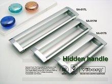 (4 pieces/lot) 64mm VIBORG Zinc Alloy+Aluminium Drawer Handles& Cabinet Handles &Drawer Pulls & Cabinet Pulls, SA-017-64(China (Mainland))