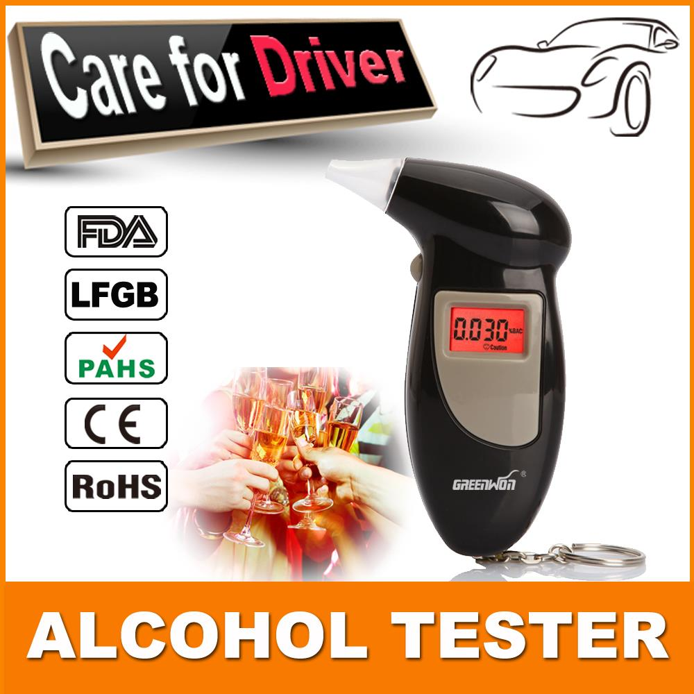 Брелок тестер спирта алкотестер алкоголь детектор с красной подсветкой жк-дисплеем и 5 мундштуки розничная упаковка бесплатная доставка